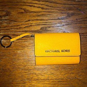 Michael Kors Yellow ID Holder Keychain